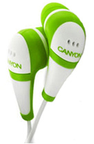CANYON's white and orange earbuds, the CNR-EP3 will be available in a wider range of color schemes