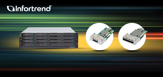 Infortrend Boosts Storage Performance with the New-Generation Systems and 32G FC / 25GbE Connectivity