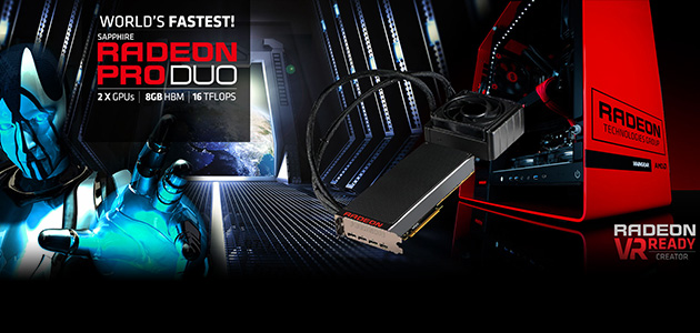 SAPPHIRE launches Radeon Pro Duo for ultimate VR & 4K experience